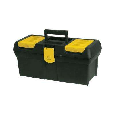 16 in. Tool Box with Lid Organizers