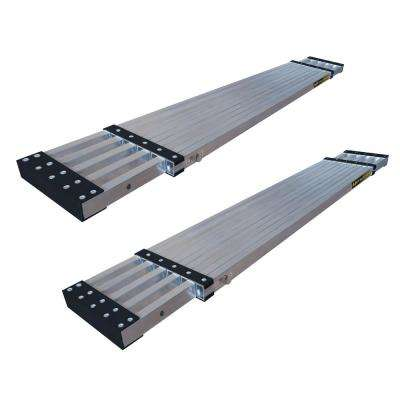 13 ft. Aluminum Telescoping Work Plank with 250 lbs. Load Capacity (2-Pack)