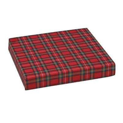 16 in. x 18 in. x 3 in. Standard Polyfoam Wheelchair Cushion and Plaid