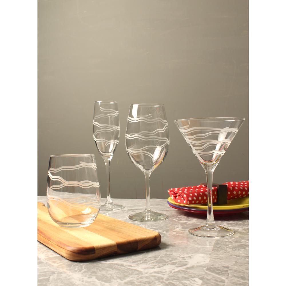 Good Vibrations 10 oz. Clear Martini (Set of 4)