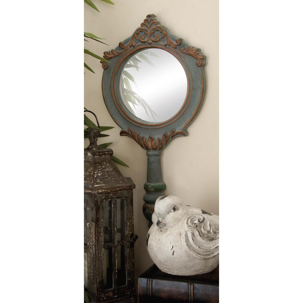 Litton Lane 3 Piece Rustic Elegance Raised Scroll Wall Mirror Set