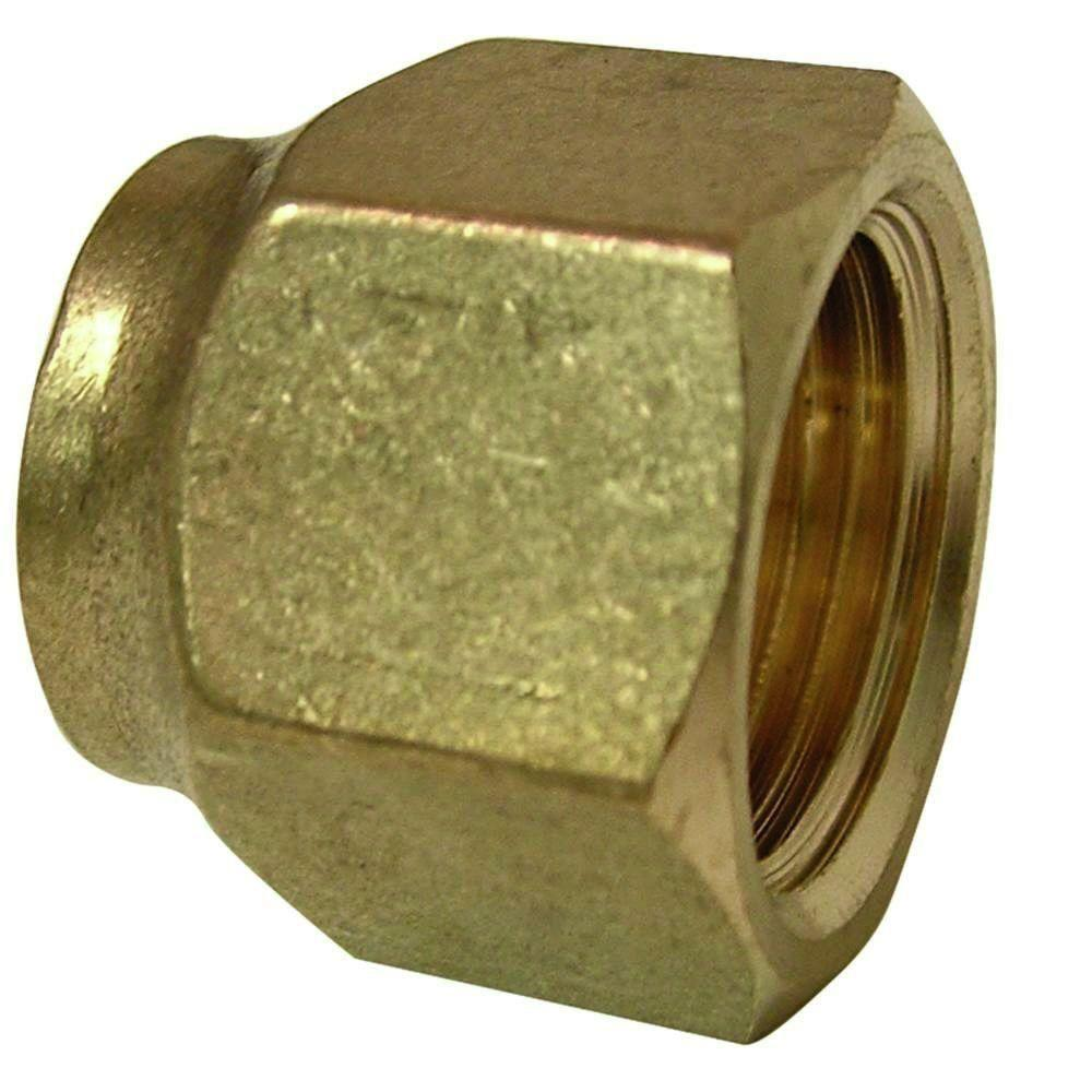 3/8 in. I.D. Lead Free Brass Short Forged Flare Nuts (2-Pack)