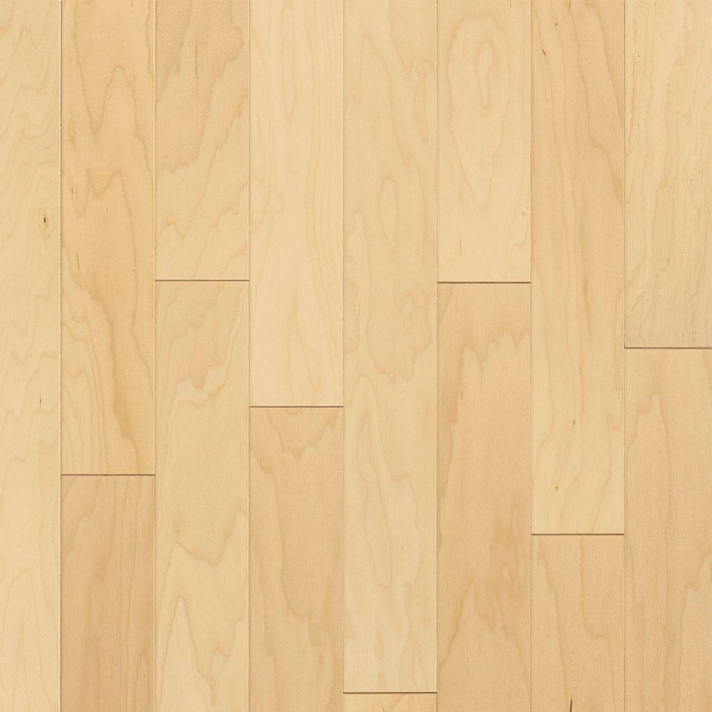 Natural Maple 3/8 in. T x 5 in. W x Random Length Click Lock Engineered Hardwood Flooring (22 sq. ft/case)