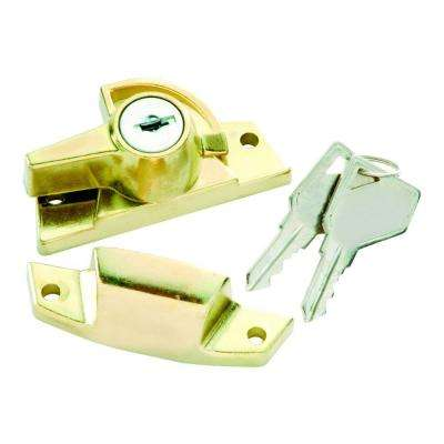 Polished Brass Keyed Alike Sash Lock