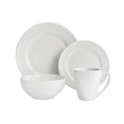 16-Piece White Amelie Dinnerware Set