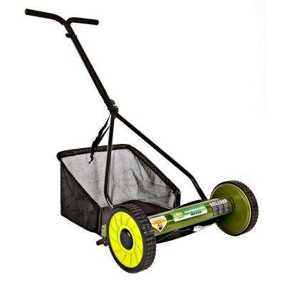 Mow Joe 16 in. Manual Push Walk Behind Reel Mower with Catcher