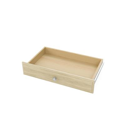 4 in. H x 24 in. W Harvest Grain Wood Deluxe Closet Drawer Kit