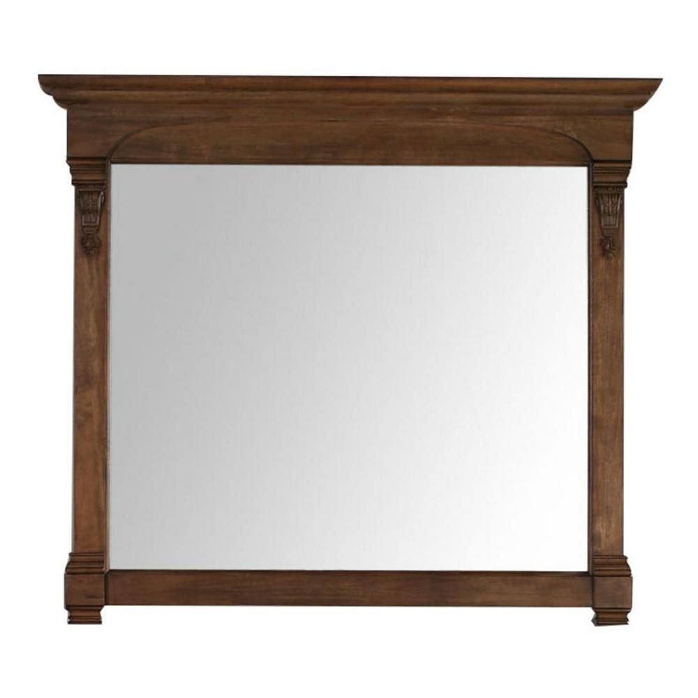 Brookfield 47 in. W x 42 in. H Framed Wall Mirror in Country Oak
