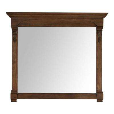 Brookfield 47 in. W x 42 in. H Framed Wall Mirror in Country Oak