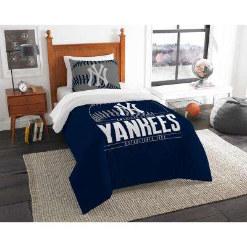 Yankees 3-Piece Multi Color GrandSlam Twin Comforter Set