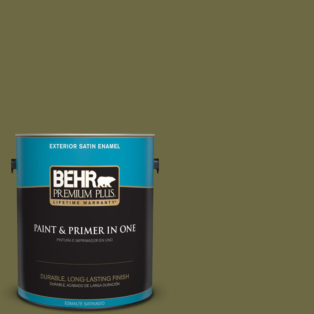 Home Decorators Collection 1-gal. #HDC-CL-20 Portsmouth Olive Satin Enamel