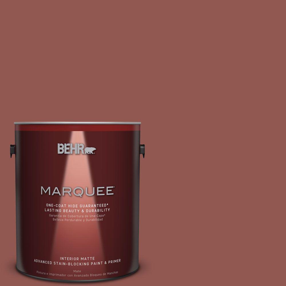 1 gal. #MQ1-21 Rich Brocade One-Coat Hide Matte Interior Paint