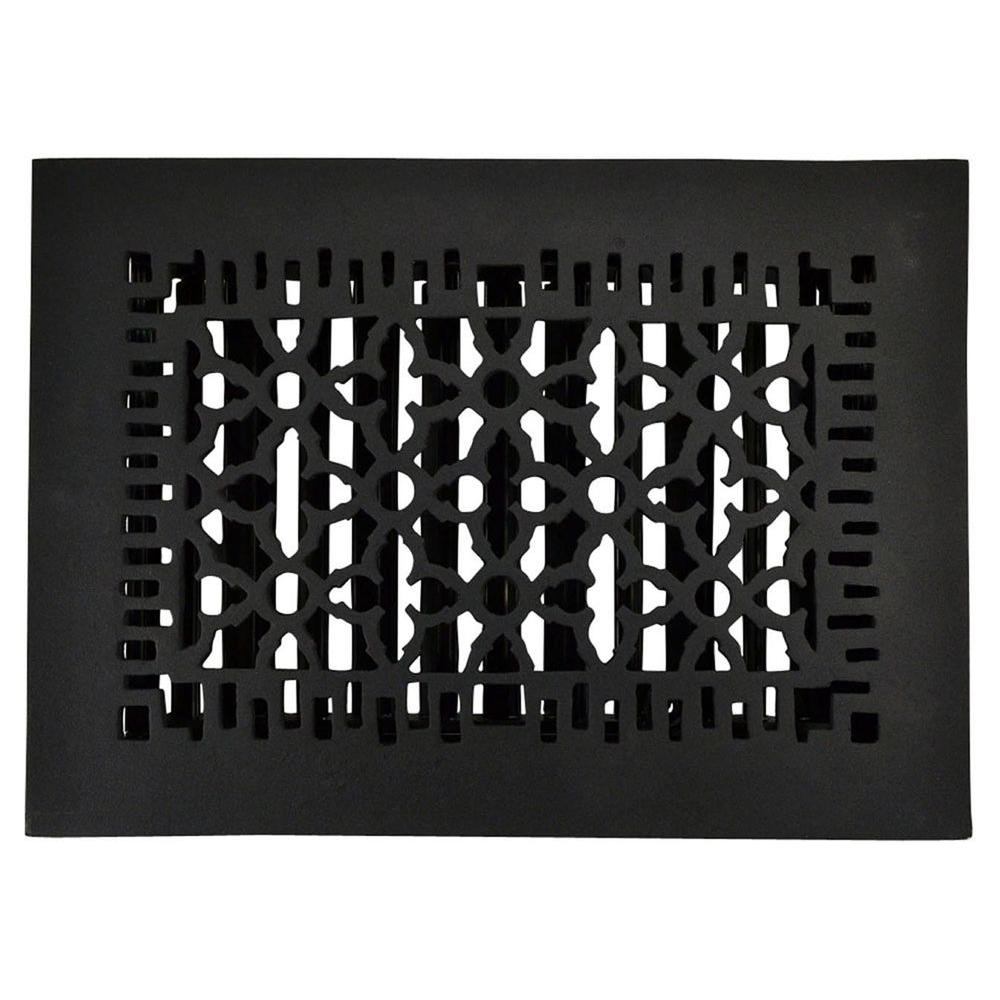 Copper Mountain Hardware 12 in. x 8 in. Cast Iron Louvered Register