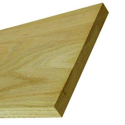 8010 48 in. x 7-1/4 in. Unfinished Oak Riser