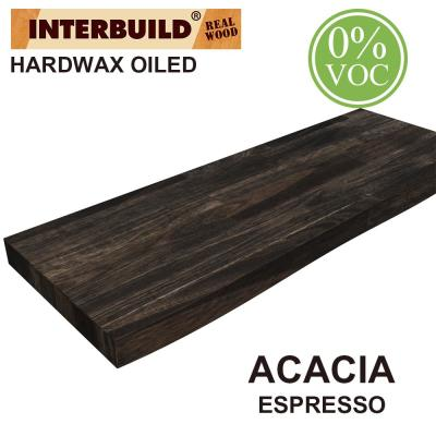 Acacia 2 ft. L x 10 in. D x 1.5 in. T Butcher Block Countertop Floating Wall Shelf in Espresso Stain with Live Edge