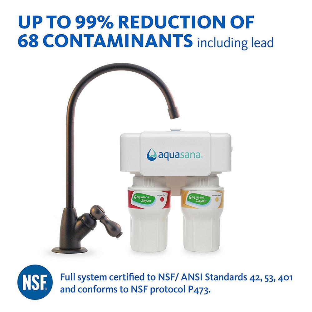 Aquasana 2-Stage Under Counter Water Filtration System with Oil ...