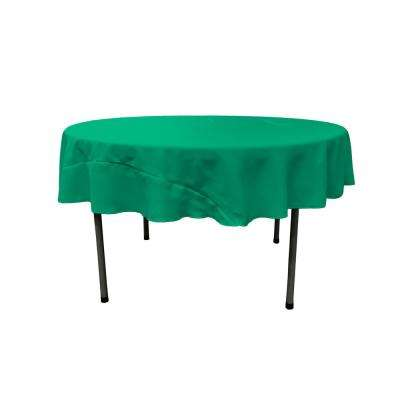72 in. Round Jade Polyester Poplin Tablecloth