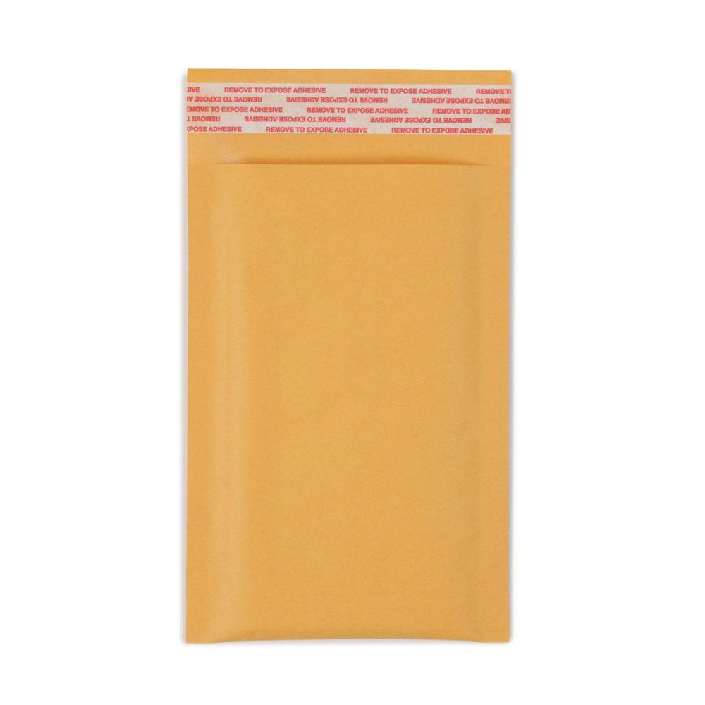 Pratt Retail Specialties 4 in. x 7 in. Paper Bubble Mailers Envelope with Adhesive Easy Close Strip (500-Case)
