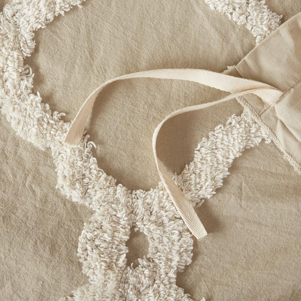 Nollie 3-Piece Tufted Cotton Duvet Cover Set
