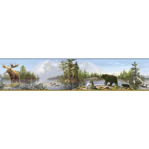 Chesapeake Carnegie Moose Lake Wallpaper Border TLL48541B