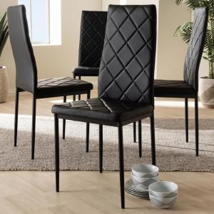 9c7f1b342c2af Internet  305610034. +3. Baxton Studio Blaise Black Faux Leather  Upholstered Dining Chair ...