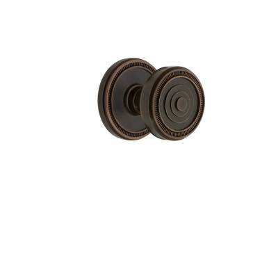 Soleil Rosette 2-3/8 in. Backset Timeless Bronze Passage Hall/Closet with Soleil Door Knob