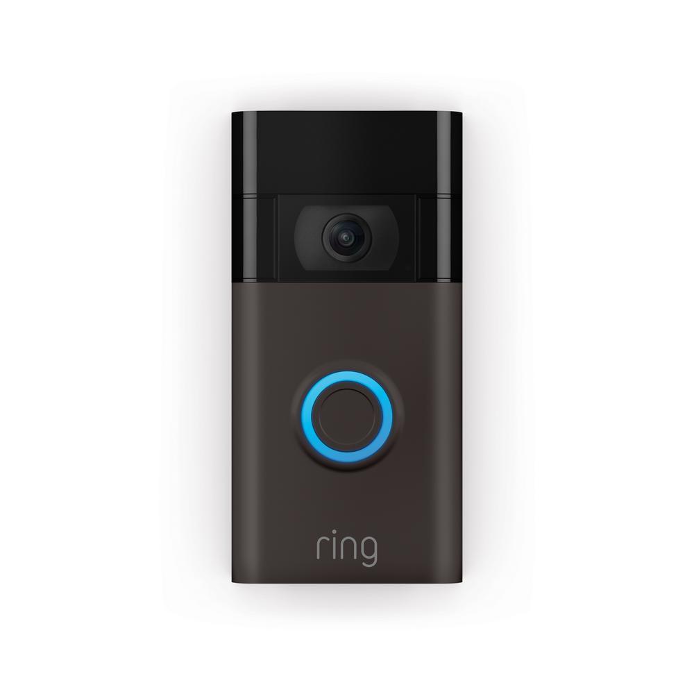 1080p Wi-Fi Video Wired and Wireless Smart Video Door Bell Camera, Works with Alexa, Venetian Bronze (2nd Gen)