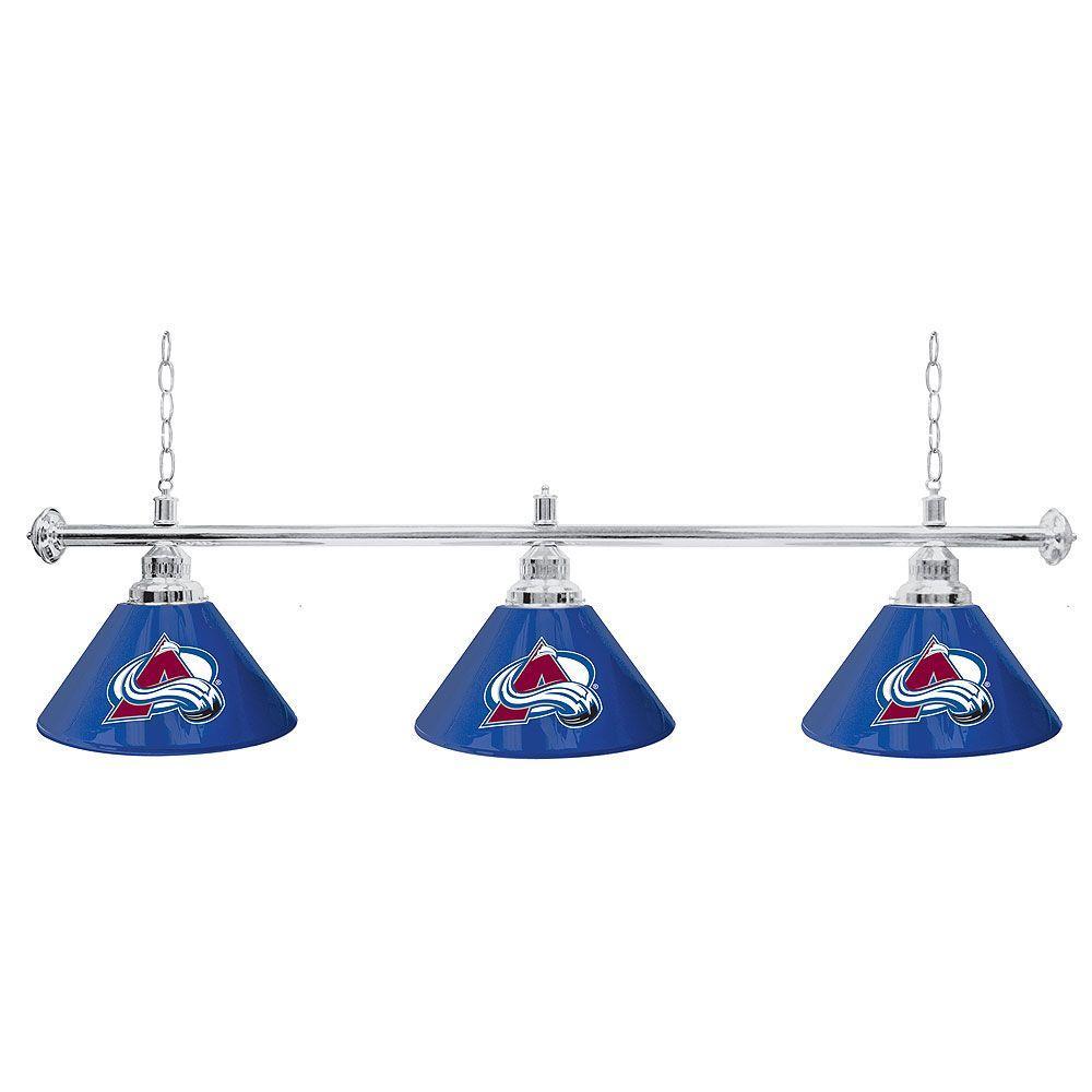 Trademark NHL Colorado Avalanche 60 in. Three Shade Gold Hanging Billiard Lamp