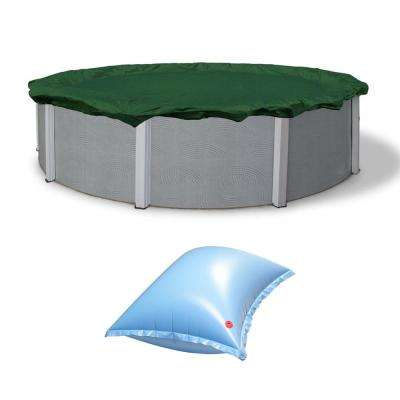 15 ft. Round RipStopper Pool Cover and Winterizing 4 ft. x 8 ft. Air Pillow