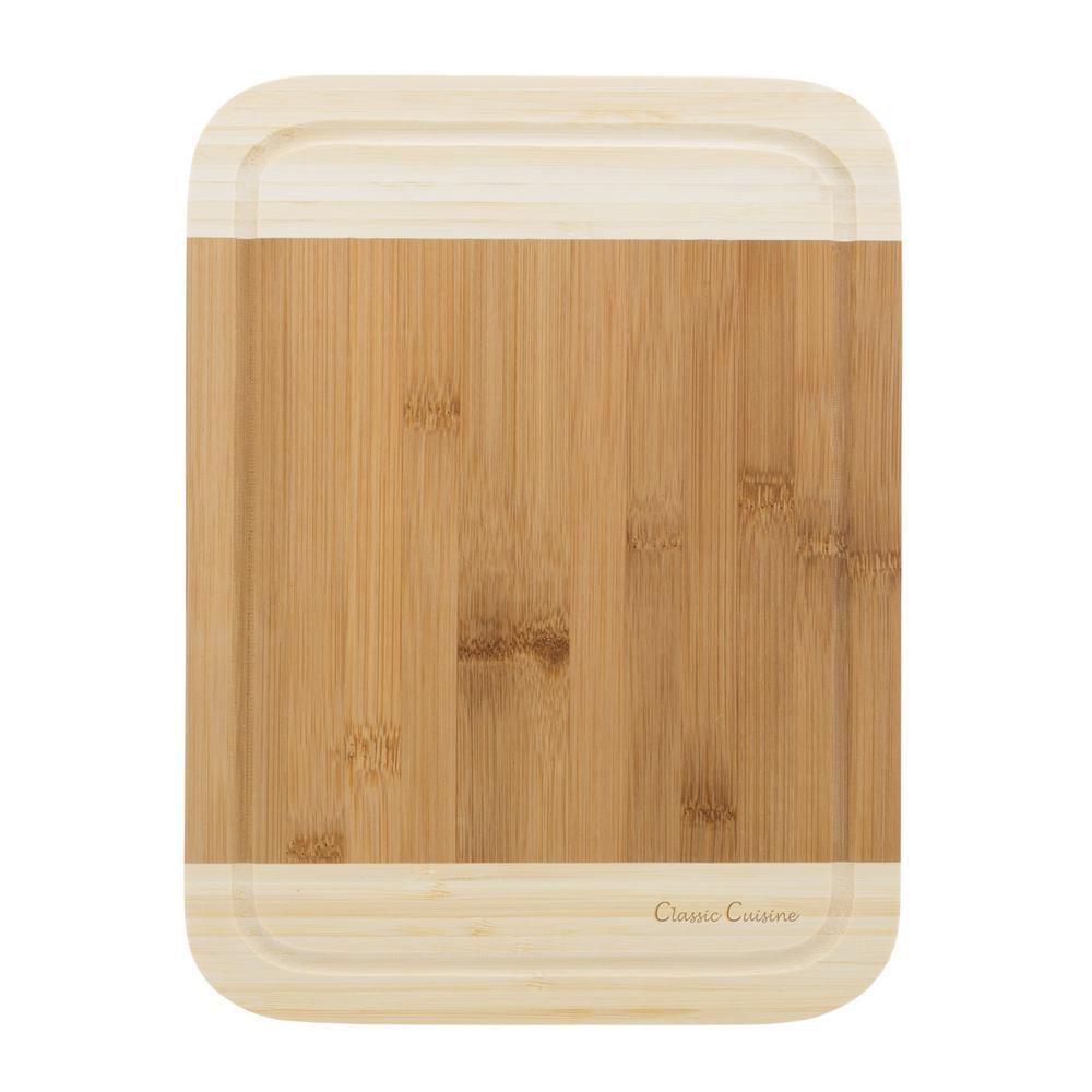 Wooden 2-Tone Cutting Board