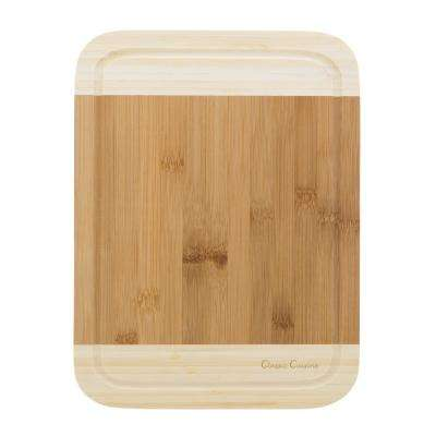 Wooden 2-Tone Cutting Board