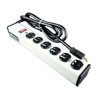 6-Outlet 20 Amp Compact Power Strip with Lighted On/Off Switch, 15 ft. Cord