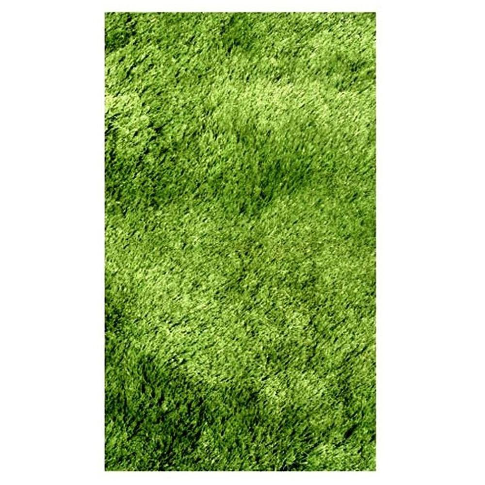 LA Rug Silky Shag Green 7 ft. 3 in. x 9 ft. 10 in. Area Rug