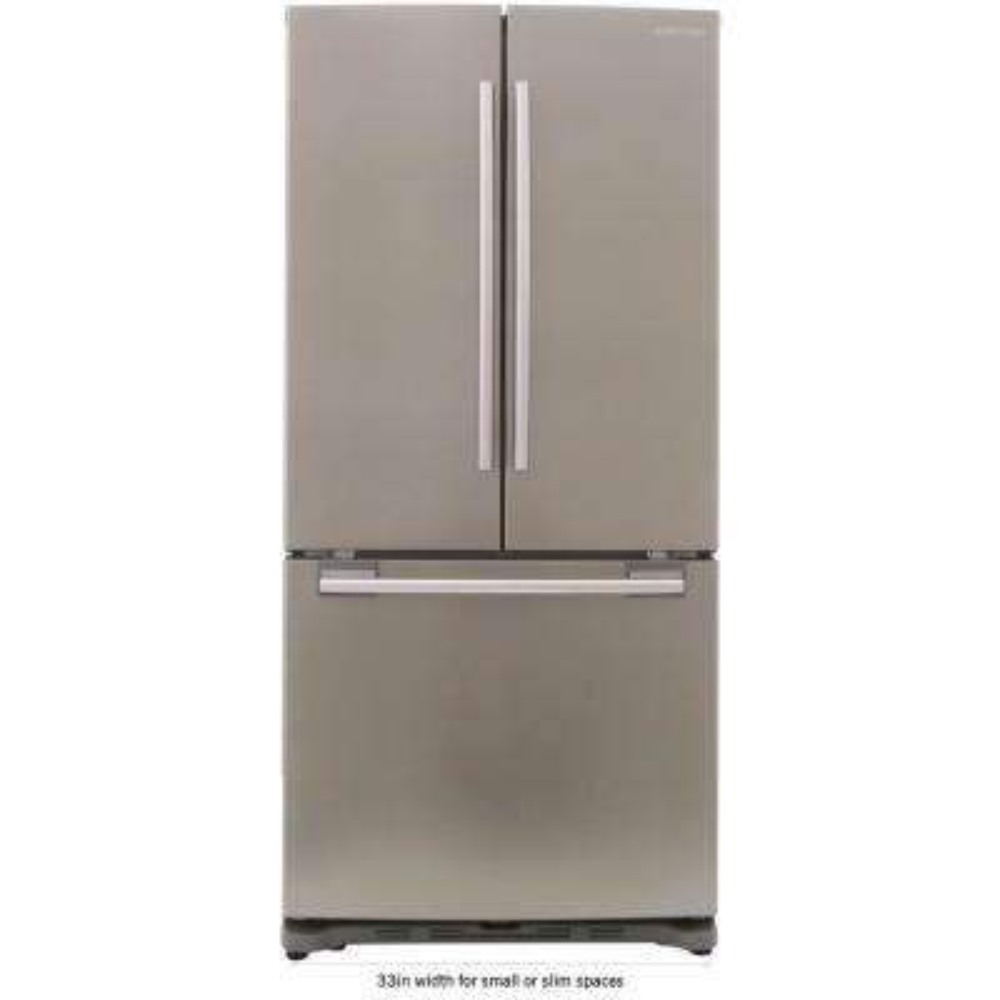 33 in. W 17.5 cu. ft. French Door Refrigerator in Platinum, Counter Depth
