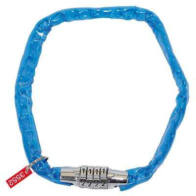 Children's Bike Combo Lock in Blue