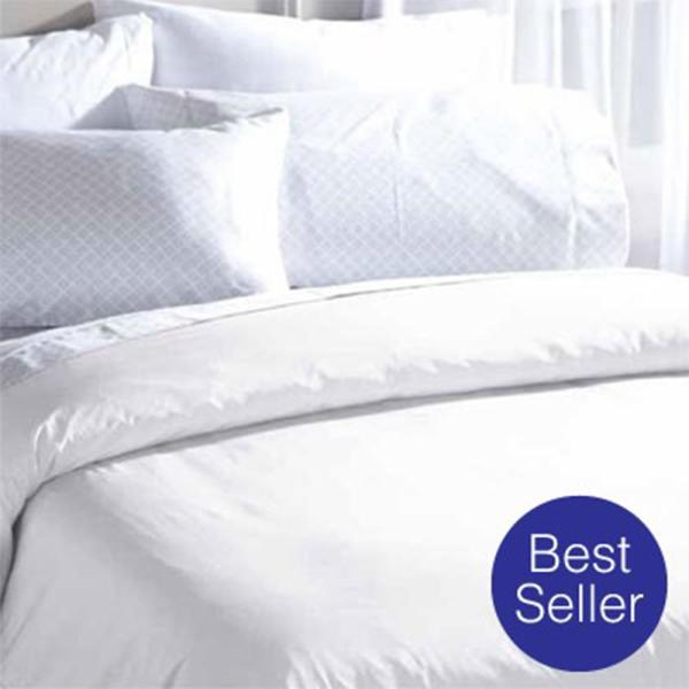 BedCare All-Cotton Mite White Queen Jumbo Comforter Cover