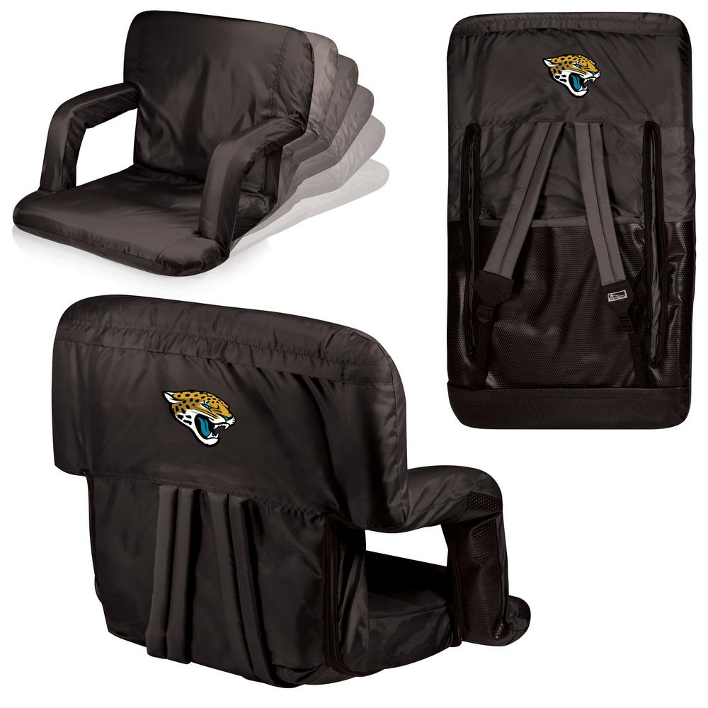 Ventura Jacksonville Jaguars Black Patio Sports Chair with Digital Logo