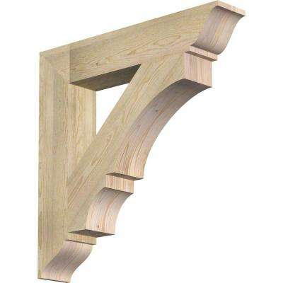 6 in. x 34 in. x 34 in. Douglas Fir Balboa Traditional Rough Sawn Bracket