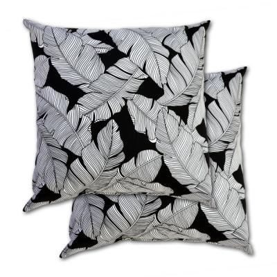 18 in. x 18 in. Carano Shadow Square Square Outdoor Throw Pillow (2 Pack)