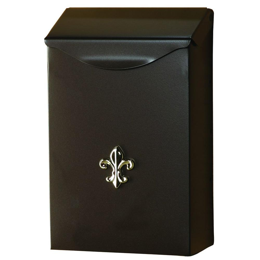 Gibraltar Mailbo City Clic Vertical Wall Mount Steel Mailbox In Venetian Bronze
