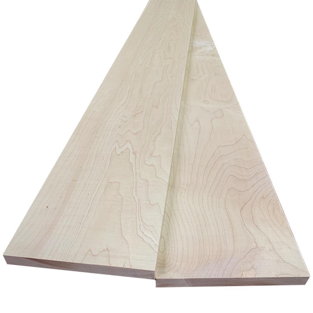 Swaner Hardwood 1 In X 8 In X 8 Ft Hard Maple S4s Board