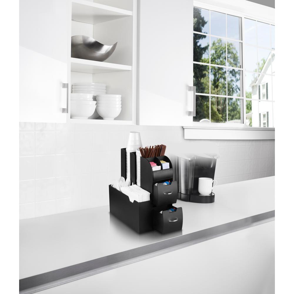 Mind Reader All in One Coffee Pod Organizer in Black