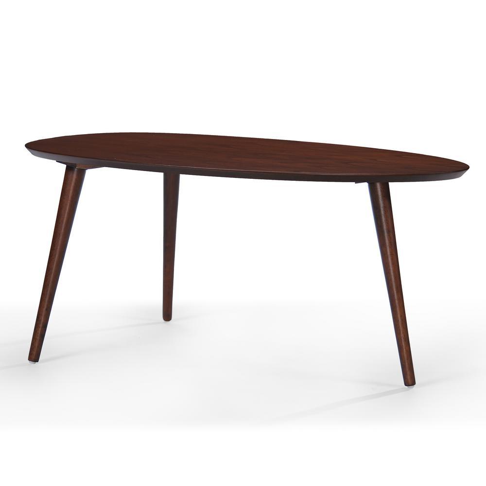 Walnut Brown Mid-Century Design Wooden Coffee Table