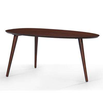 Walnut Brown Mid-Century Design Wooden Coffee Table