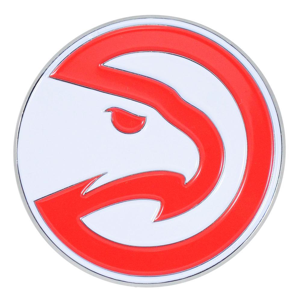 3.2 in. x 3.2 in. NBA Atlanta Hawks Color Emblem