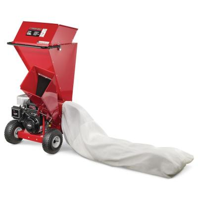 3 in. 250 cc 2-in-1 Upright Gas Powered Chipper Shredder