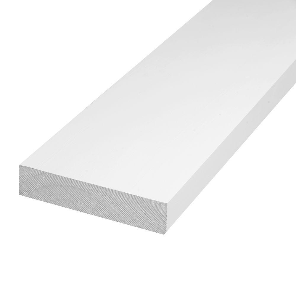 In X 6 In X 8 Ft S4s Radiata Pine Primed Finger Joint Trim Board 9654 Pfjbd The Home Depot