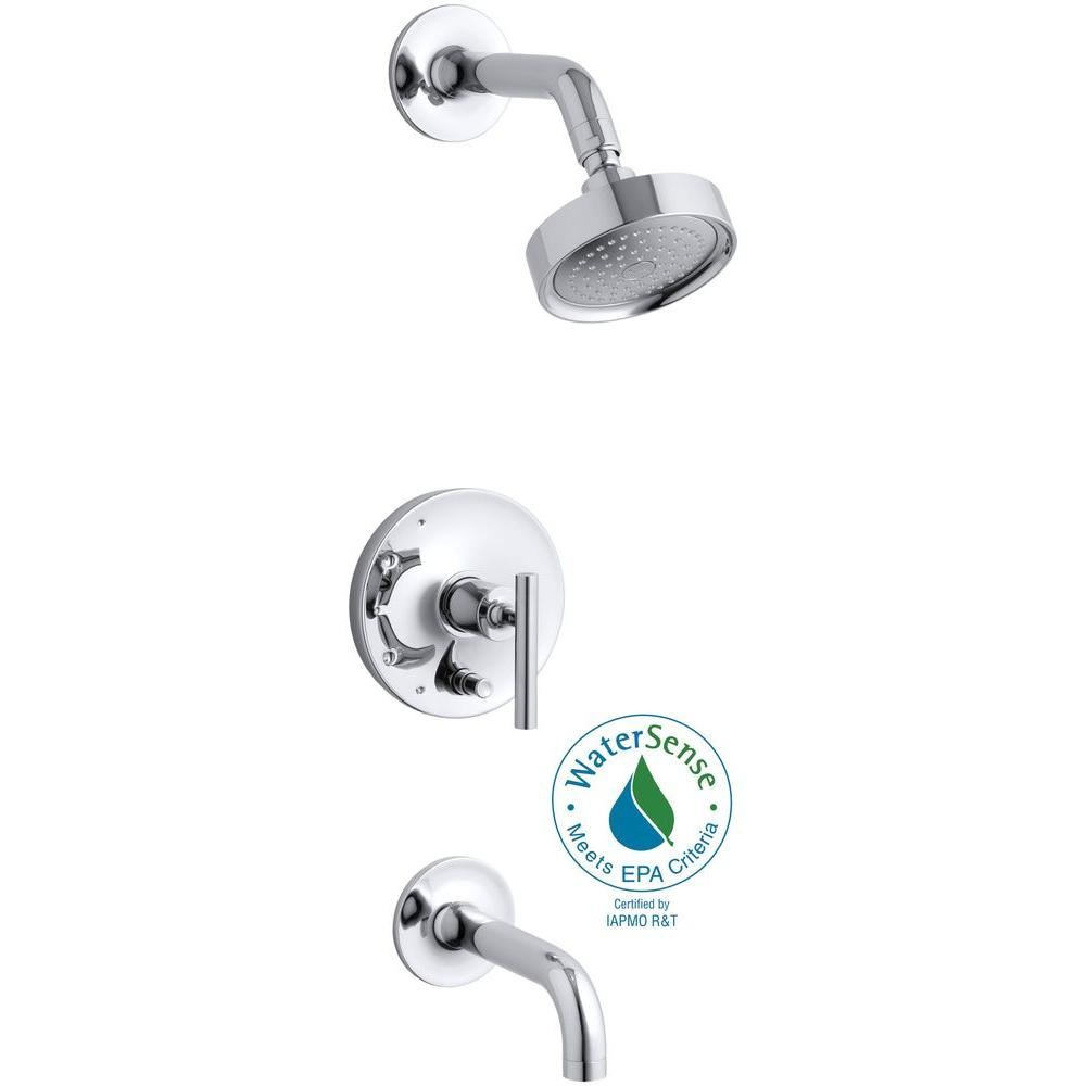 Purist 1-Handle Rite-Temp Pressure-Balancing Tub and Shower Faucet Trim in