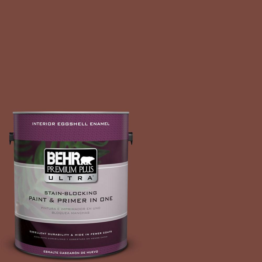 BEHR Premium Plus Ultra 1-gal. #200F-7 Wine Barrel Eggshell Enamel Interior Paint