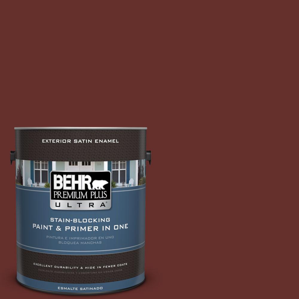 BEHR Premium Plus Ultra 1-gal. #ECC-31-3 Autumn Leaves Satin Enamel Exterior Paint